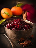 Cranberry jam with oranges