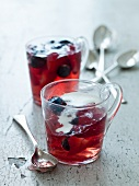 Strawberry and blueberry jelly