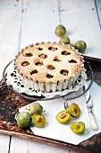 Breton Mirabelle plum cake