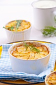 Potato gratin with fennel
