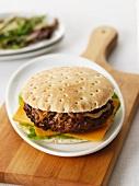Burger in a wholegrain bun