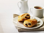 Pains au chocolat and a cup of coffee