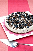 Blueberry cheesecake with a muesli base