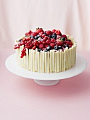 Cream cake with mixed berries