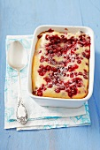 Clafoutis with redcurrants