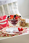 Muesli with berries and yoghurt