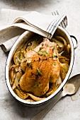 Roast chicken with fennel