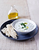 Yoghurt and cucumber dip