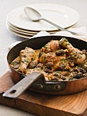 Chicken with morels and a creamy sauce
