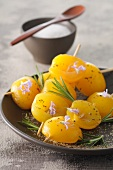 Apricot skewers with rosemary