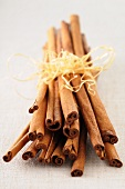 Cinnamon Sticks Bundled and Standing Up