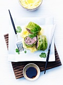 Asian savoy cabbage wraps