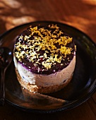 Mini cheese and blueberry torte with lemon zest
