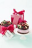 Mini fruitcakes for Christmas