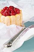 Raspberry charlotte and a cake slice