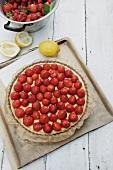 A strawberry and lemon tart