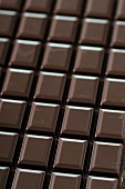 A bar of plain chocolate (filling the image)