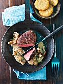 Fillet of beef with oyster mushrooms