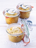 Kleine Apfeltorten, im Glas gebacken