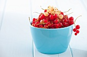 Redcurrants in a small bowl