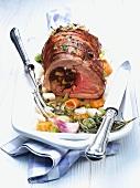 Stuffed leg of lamb, Provence-style