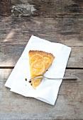 A slice of lemon tart