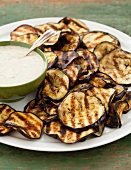 Grilled Eggplant Slices with Yogurt Sauce