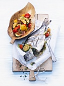 Stuffed Gilthead Sea Bream with Mediterranean vegetables