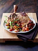 Lamb shoulder with tomatoes and rosemary