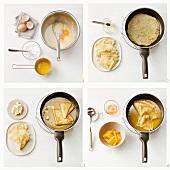 Making crepes suzette