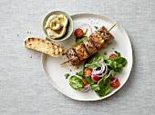 Lammspiess mit Salatbeilage