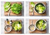 Kopfsalat mit Vinaigrette zubereiten