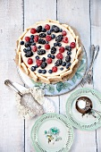 Mascarpone-forest berry cake