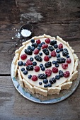 Mascarpone cake with forest berries