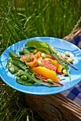 Summer citrus fruit salad