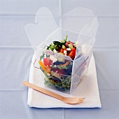 Mixed salad in a box