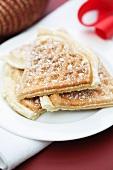 Cinnamon waffles with powdered sugar