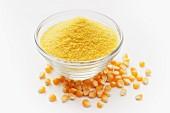 Polenta and corn kernels