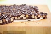 Home-made nut chocolate