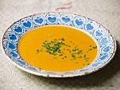 Pumpkin soup with ginger and curry