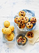 Raspberry and vanilla muffins with rosewater