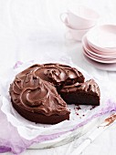 Chocolate torte with rum and raisins