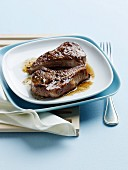 Szechuan Lamb Chops on a White Plate