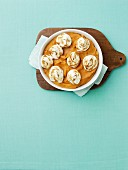 Baked Sweet Potato Puree wit Marshmallow