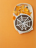Halloween Black Bean Dip with Chips
