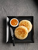Crumpets with Marmalade