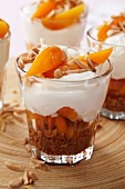 Apricot and ricotta trifle
