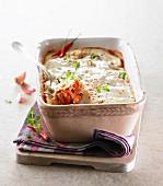 Lammeintopf mit Joghurt überbacken
