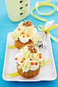 Carrot and walnut cupcakes