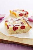 Cherry sour cream cake